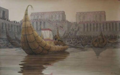 Representación del Puerto de Eridu