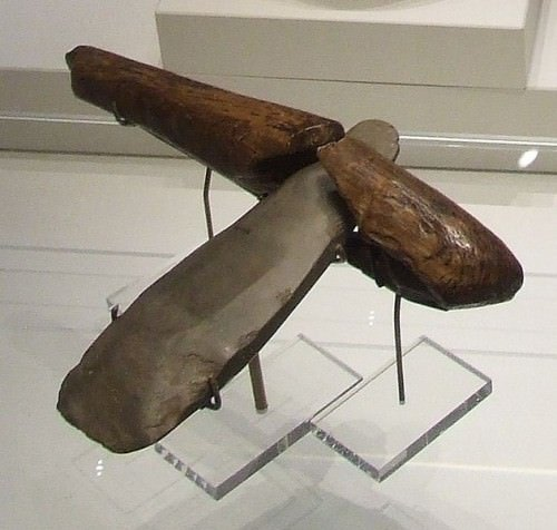 Neolithic Stone Axe with Wooden Handle