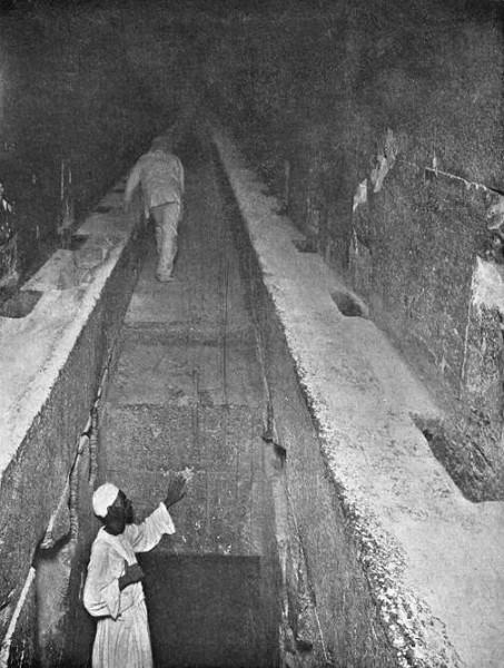 Pasaje interior, gran pirámide de Giza