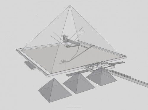 Diseño de interiores, gran pirámide de Giza