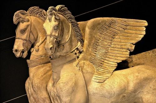 Caballos alados etruscos, Tarquinia
