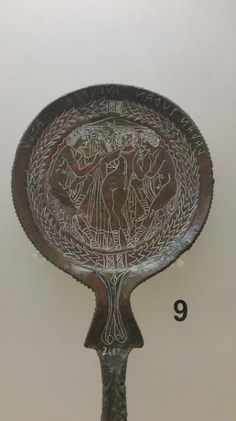 Espelho de bronze etrusco