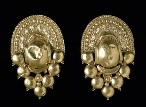 Pendientes Etruscos de Oro, Populonia