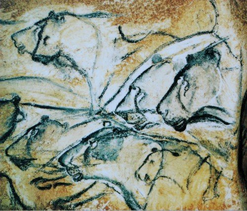 Panel of the Lions (Detail), Chauvet Cave