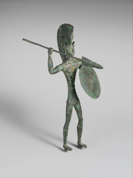 Guerrero etrusco de bronce