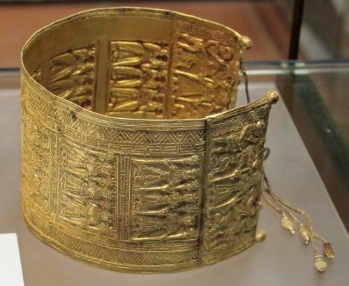 Pulsera etrusca de oro