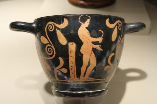 Atleta griego con Strigil