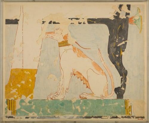 Cão sentado, túmulo de Nebamun