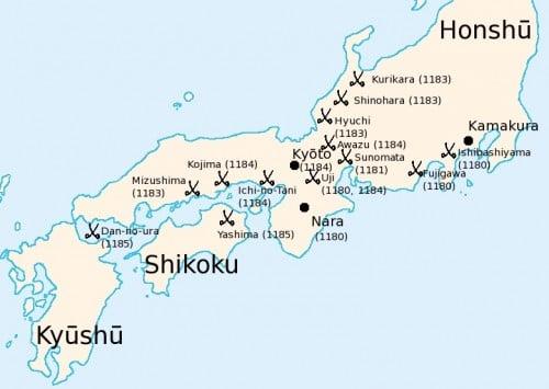 Batallas de la Guerra de Genpei
