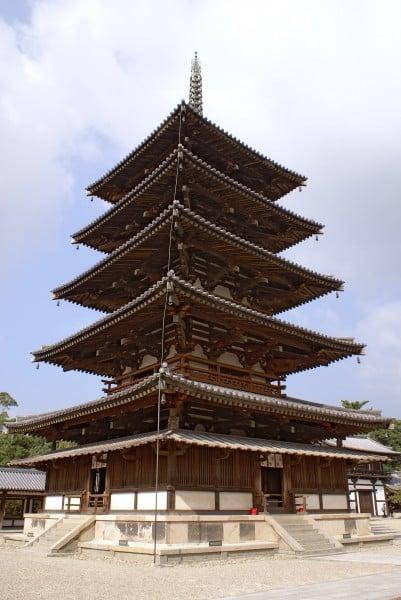 Pagoda, Horyuji