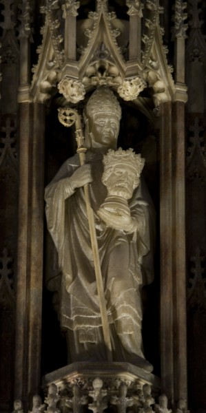 St Cuthbert with St Oswald's head
