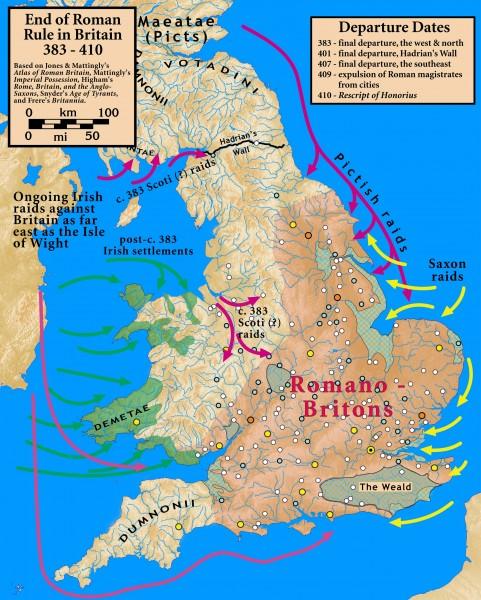 Grã-Bretanha 383-410 dC