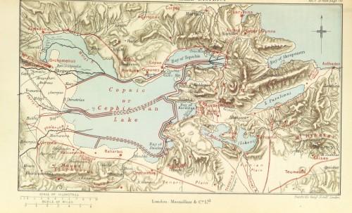 Pausanias' Description of Greece Map