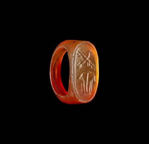 Egyptian Amber Ring