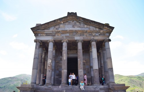 Front View of Garni Temple in Armenia