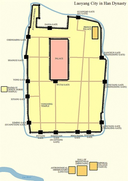 Map of Luoyang
