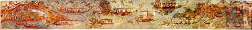 Akrotiri Ship Procession Fresco