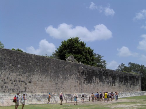 The Grand Ball Court at Chichen Itza