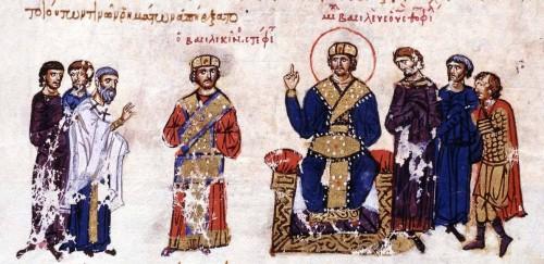 Co emperador Miguel III Coronas albahaca