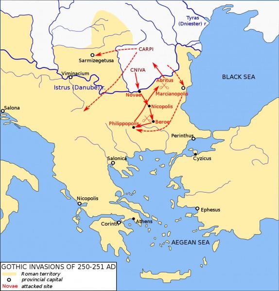 Gothic Invasion 250-251 CE