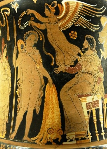 Jason traz Pelias o Velocino de Ouro