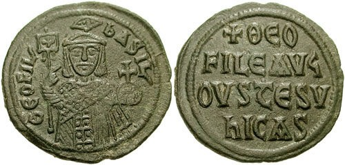 Follis Coin of Theophilos