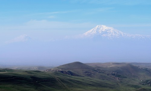 View of Mount Ararat from Armenia