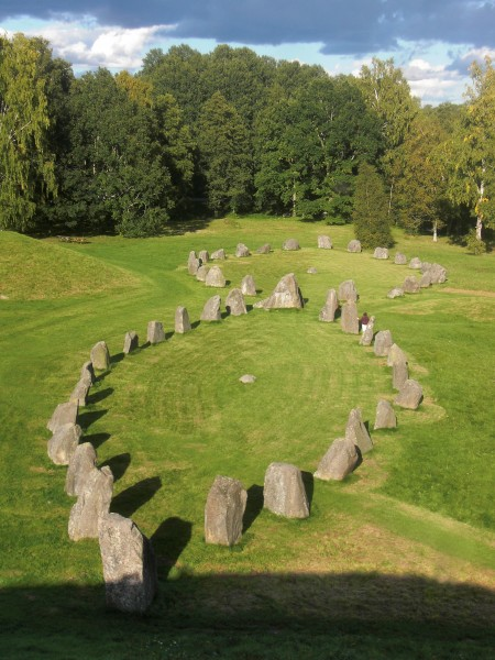 Scandinavian Stone Ship Burial