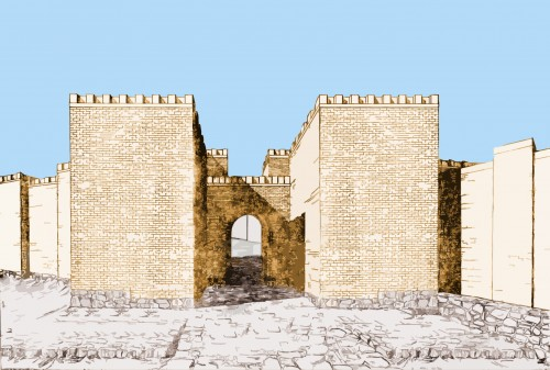 South Gate Reconstruction, Teishebaini