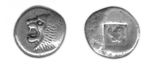 Tetradrachm de prata de Colchian
