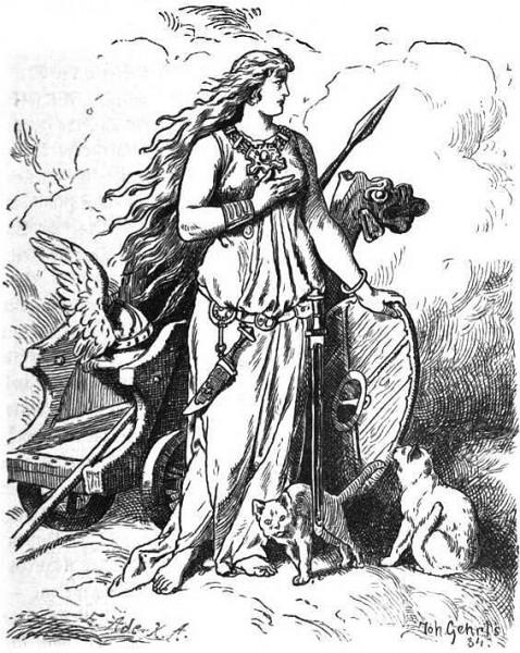 Freyja con carro