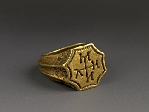 Anillo de sello bizantino