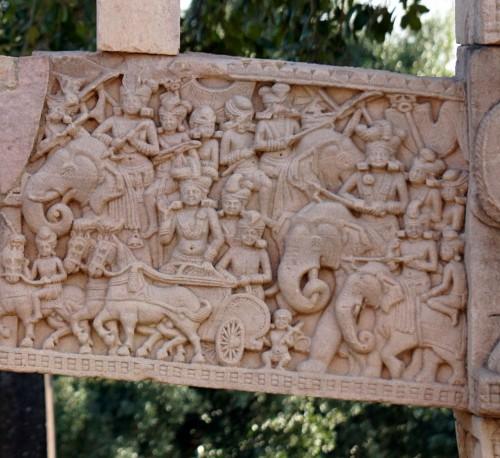Soldados Mauryan y Pre-Maurian de Sanchi Stupa