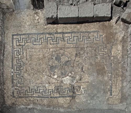 Piso de mosaico en Magdala