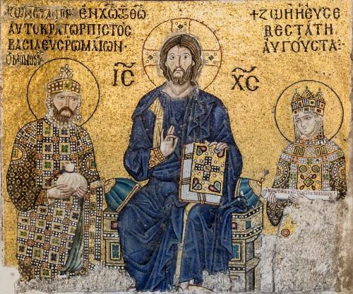 Constantino IX y la Emperatriz Zoe