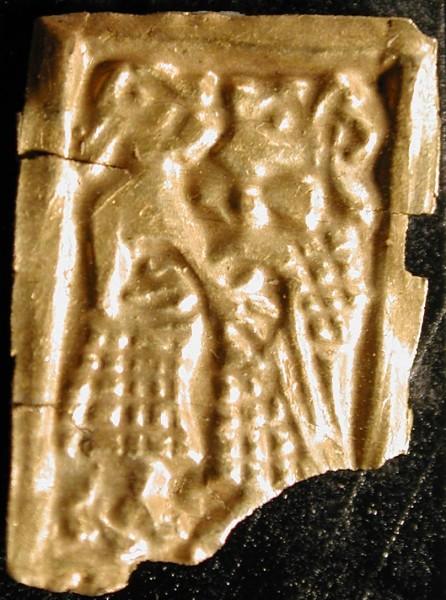 Imagen escandinava de lámina de oro