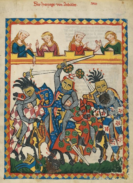 Henry I, Count of Anhalt in the Codex Manesse