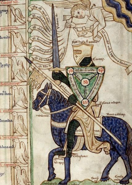 Knight Battling the Seven Sins