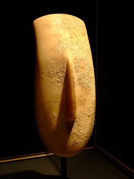 Escultura de cabeça das Cíclades