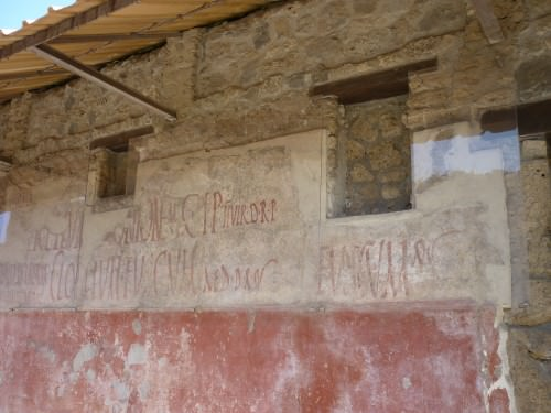 Electoral Notices, Pompeii