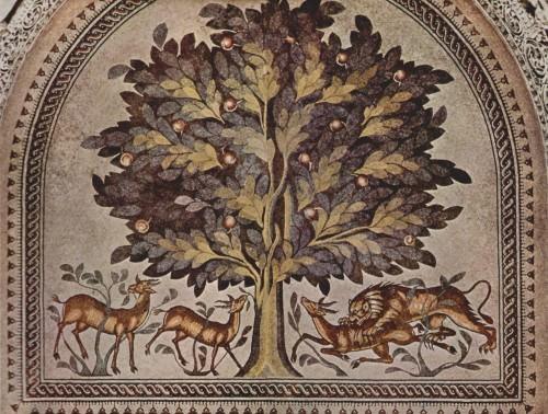 Mosaico, Khirbat Al Mafjar