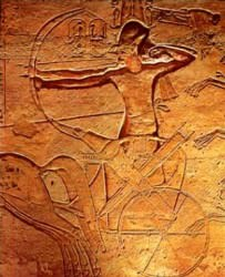 Ramesses II at The Battle of Kadesh (Cave cattum)