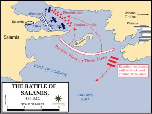 Battle of Salamis, 480 BCE (Dept. of History, US Military Academy)