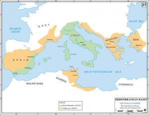 Map of 2nd Century Roman Expansion (US Military Academy)
