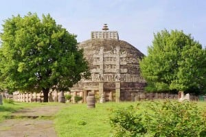 The 'Great Stupa' at Sanchi (Gérald Anfossi)