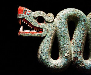 Aztec Double-Headed Serpent (Detail) (Neil Henderson)