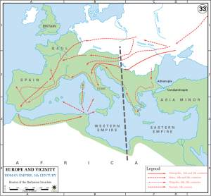 Routes of the Barbarian Invaders (US Military Academy)