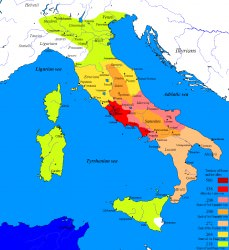 Map of the Roman Conquest of Italy (Javierfv1212)