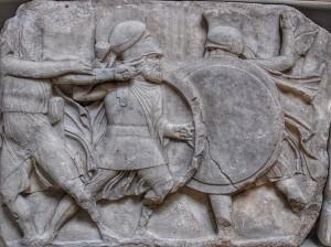 Greek Hoplites Fighting ()