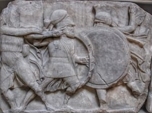 Greek Hoplites Fighting ()